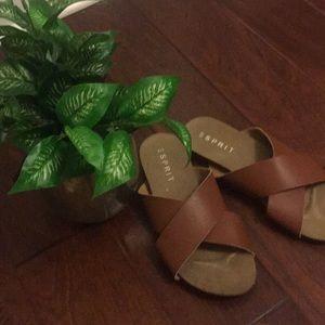 NWOB:  Esprit Slide Sandals Size 7